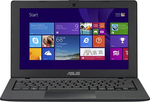 "Asus - 11.6"" Touch-Screen Laptop - Intel Celeron - 4GB Memory - 500GB Hard Drive - Black"