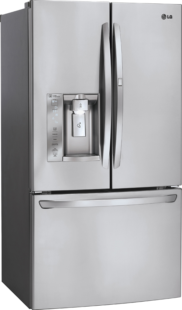 Lg 244 Cu Ft French Door Refrigerator With Thru The Door Ice