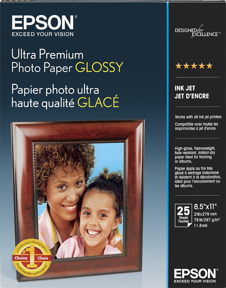 Epson - Ultra Premium High-Gloss Photo Paper - White