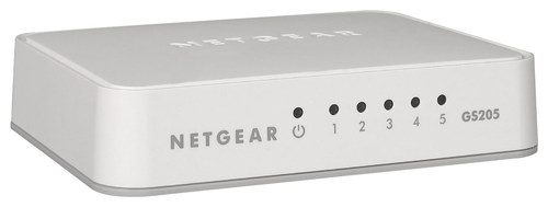 NETGEAR - 200 Series Unmanaged Soho 5-Port 10/100/1000 Gigabit Switch - White