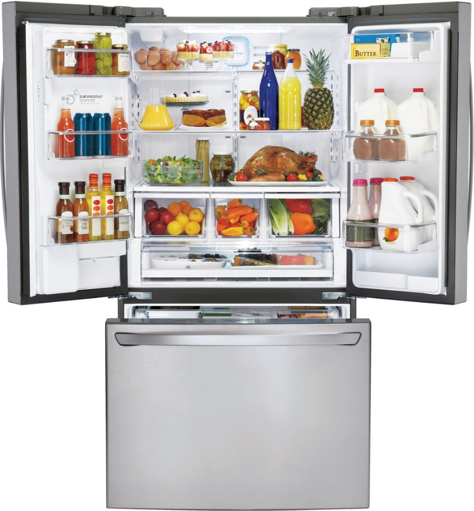 lg refrigerator sale. lg - 24.0 cu. ft. counter-depth french door refrigerator with thru-the-door ice and water stainless steel at pacific sales lg sale n
