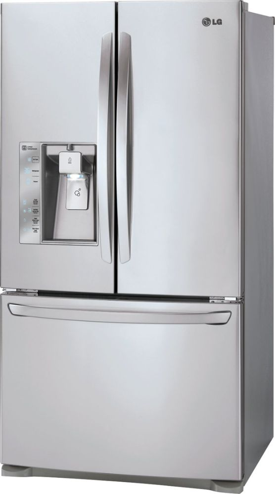 Lg 240 Cu Ft Counter Depth French Door Refrigerator With Thru