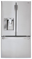 LG - 29.6 Cu. Ft. French Door Smart Refrigerator with Thru-the-Door Ice and Water - Stainless-Steel