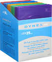 Dynex™ - 25-Pack Slim DVD Cases - Multicolor