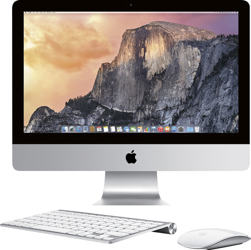Apple - Geek Squad® Certified Refurbished 21.5 iMac All-in-One Computer - 8GB Memory - 1TB Hard Drive - White