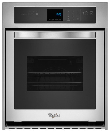 Whirlpool - 24 Built-In Single Electric Wall Oven - Stainless Steel