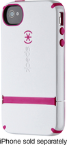 Speck - Candyshell Flip Case for Apple® iPhone® 4 and 4S - White/Pink Raspberry