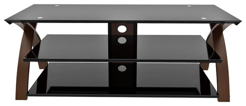 Z-Line Designs - Willow TV Stand for Most Flat-Panel TVs Up to 65 - Black/Espresso
