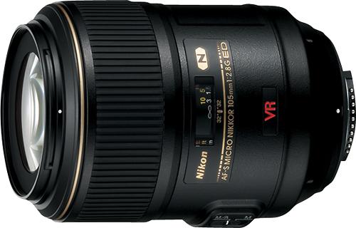 Nikon - AF-S VR Micro-Nikkor 105mm f/2.8G IF-ED Macro Lens - Black