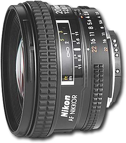 Nikon - AF Nikkor 20mm f/2.8D Wide-Angle Lens - Black