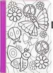 Griffin Technology - Crayola Color-A-Case Folio Case for Apple® iPad® mini, iPad mini 2 and Pad mini 3 - Purple/White