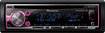 Pioneer - CD - Built-In Bluetooth - Apple® iPod®- and Satellite Radio-Ready - In-Dash Receiver - Black/Silver