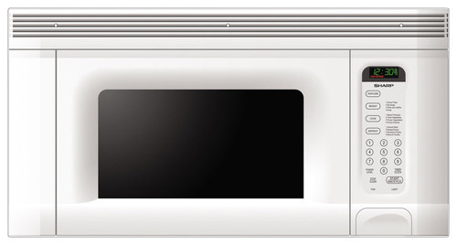 Sharp - 1.4 Cu. Ft. Over-the-Range Microwave - White
