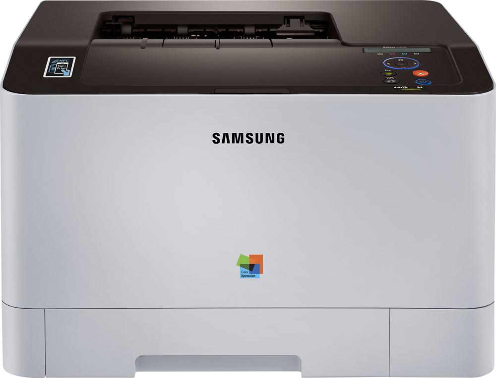 Samsung - Xpress C1810W Wireless Color Laser Printer - White/Black
