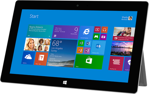 Microsoft - Geek Squad Certified Refurbished Surface 2 - 64GB - Magnesium