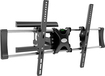 """CorLiving - Wall Mount for Most 42"""" - 65"""" Flat-Panel TVs - Extends 20"""" - Black"""