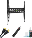 """Sonax - Fixed TV Wall Mount for Most 26"""" - 50"""" Flat-Panel TVs - Black"""