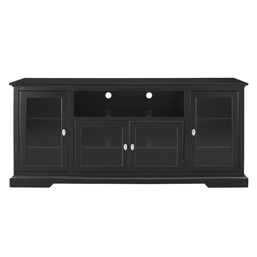 Walker Edison - Highboy TV Stand for Most Flat-Panel TVs Up to 70 - Black