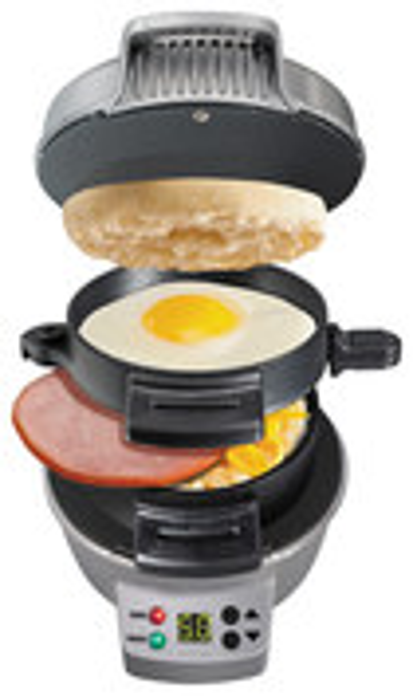 Click here for Hamilton Beach - Breakfast Sandwich Maker - Black/... prices