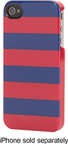 Griffin Technology - Cabana Stripes Hard Shell Case for Apple® iPhone® 4 and 4S - Blue/Red
