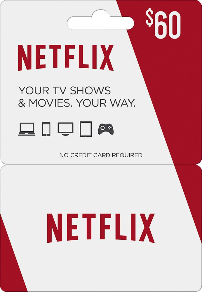 Netflix - $60 Gift Card - Red