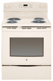 "GE - 30"" Self-Cleaning Freestanding Electric Range - Bisque"