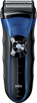 Braun - Series 3 Wet & Dry Solo Shaver - Black/Blue