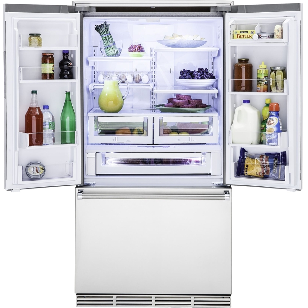 Viking   3 Series 22.1 Cu. Ft. French Door Counter Depth Refrigerator    Stainless Steel At Pacific Sales