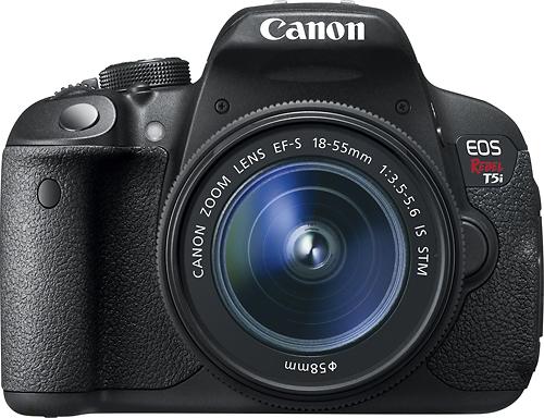 Canon - EOS Rebel T5i Dslr Camera with 18-55mm IS STM Lens - Black