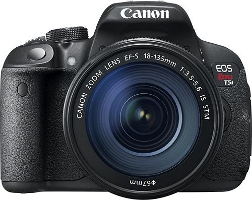 Canon EOS Rebel T5i DSLR Camera with 18-135mm IS STM Lens Black ...