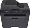 Brother - Network-Ready Wireless Black-and-White All-in-One Laser Printer - Black