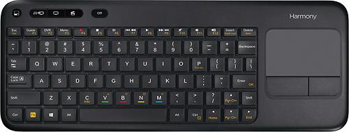 Logitech - Harmony Smart Wireless Keyboard - Black