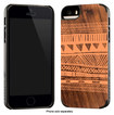 Recover - Printed Wood Snap Case for Apple® iPhone® 5 and 5s - Orange Blanket Walnut