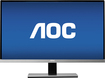"AOC - 23"" IPS LED HD Monitor - Black/Silver"
