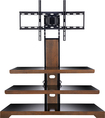 "Insignia™ - TV Stand for Most Flat-Panel TVs Up To 50"" - Cherry"