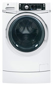 Ge - 4.5 Cu. Ft. 12-cycle High-efficiency Steam Front-loading Washer - White 8179075