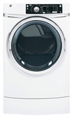 GE - 8.1 Cu. Ft. 12-Cycle Steam Gas Dryer - White
