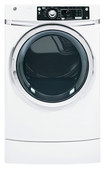 GE - 8.1 Cu. Ft. 12-Cycle Steam Electric Dryer - White