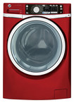 GE - 4.5 Cu. Ft. 12-Cycle High-Efficiency Steam Front-Loading Washer - Ruby Red