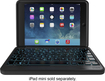 ZAGG - Folio Bluetooth Keyboard Case for Apple® iPad® mini - Black
