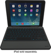 ZAGG - Rugged Folio Keyboard Case for Apple® iPad® Air - Black