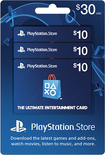 Sony - $10 PlayStation Network Cards (3-Pack) - Blue