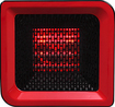 RedCore - R1 Portable Infrared Room Heater - Cherry Red