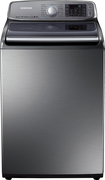 Samsung - 5.0 Cu. Ft. 15-Cycle High-Efficiency Top-Loading Washer - Stainless-Platinum