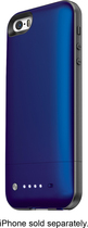 mophie - space pack External Battery and Storage Case for Apple® iPhone® 5 and 5s - Blue