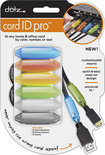 Paris Dotz - Cord ID Pro Cable Identifiers (12-Count) - Gray/Lime/Yellow/Orange/Blue/Clear