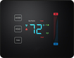 PEQ - Touch Thermostat - Black