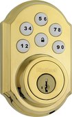 Kwikset - 910 SmartCode Touchpad Electronic Deadbolt Lock - Polished Brass