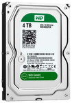WD - Green 4TB Internal Serial ATA Hard Drive for Desktops (OEM/Bare Drive) - Black/Silver