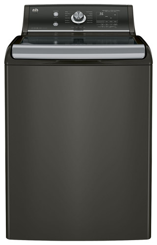 GE - 5.1 Cu. Ft. 13-Cycle High-Efficiency Top-Loading Washer - Metallic Carbon